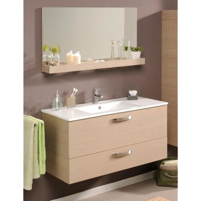 paris prix ensemble meuble vasque miroir 100cm calvi beige achat vente meuble vasque. Black Bedroom Furniture Sets. Home Design Ideas