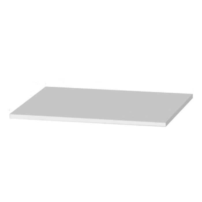 Tablette suppl mentaire en m lamine 725 x 400 mm achat for Tablette prepercee en melamine