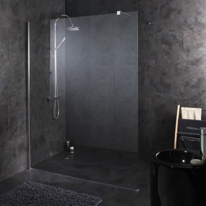 paroi de douche fixe 160x195 cm tout inox achat vente. Black Bedroom Furniture Sets. Home Design Ideas