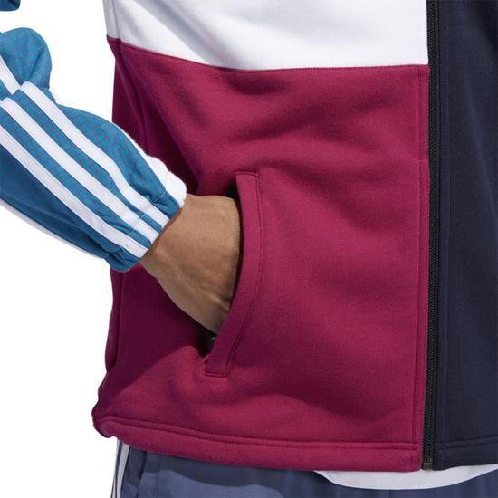 Veste de survêtement adidas Originals ASYMM FULL ZIP Bleu