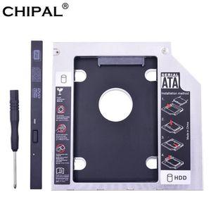 HOUSSE DISQUE DUR EXT. CHIPA aluminium universel 2nd HDD Caddy 9.5mm SATA