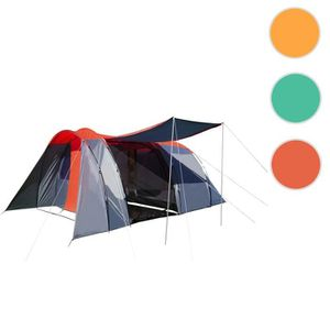 TENTE DE CAMPING Tente de camping HWC-A99, 6 personnes, dôme ~ roug