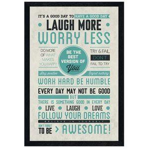 AFFICHE - POSTER Maxi Poster 61 x 91,5 cm cadre en bois noir Be Awe