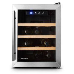 Cave à vin température réglable 25l mini frigo réfrigérateur à boissons touchpad