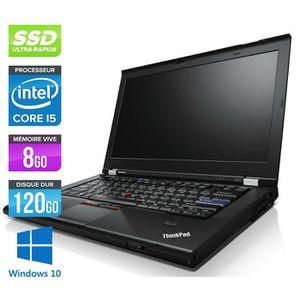 Top achat PC Portable Pc portable Lenovo T420 -Core i5 -8G -120G SSD -Webcam -Win 10 pas cher