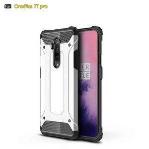 COQUE - BUMPER Coque OnePlus 7T PRO,Argent Premium Antichoc Résis