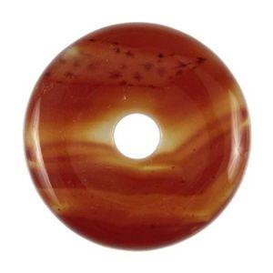 4cm Donut ou PI Chinois cornaline