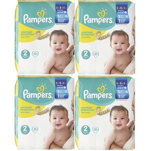 COUCHE Pampers Premium Protection New Baby Taille 2 Mini