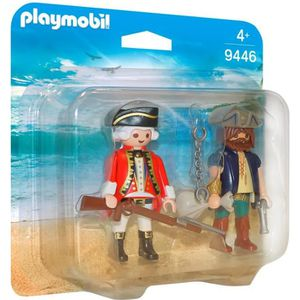 UNIVERS MINIATURE PLAYMOBIL 9446 - Pirates - Pirate et soldat - Nouv