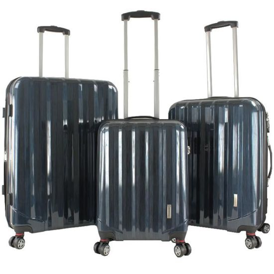 Bleu Cendre - 22-0935i08GLO3N-S360 It Bagage Lot de 3 valises Ultra l/ég/ères New York 8 Roues 80 cm Bleu