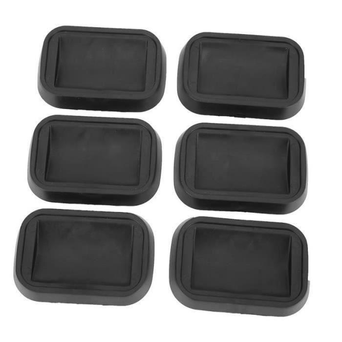 6 pièces - ensemble anti-glissement en caoutchouc roulette sous-verres tasses pour canapés lits chaises meubles sols fournitures-CWU