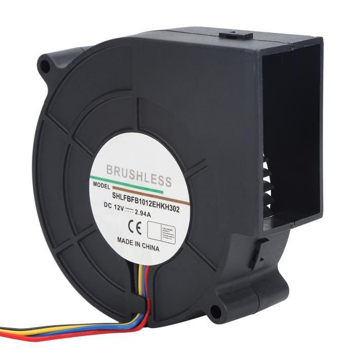 Ventilateur de ventilateur à turbine à courant continu pour équipement de chauffage de camping de pique-nique Barbecue 12V 2.94A-COL
