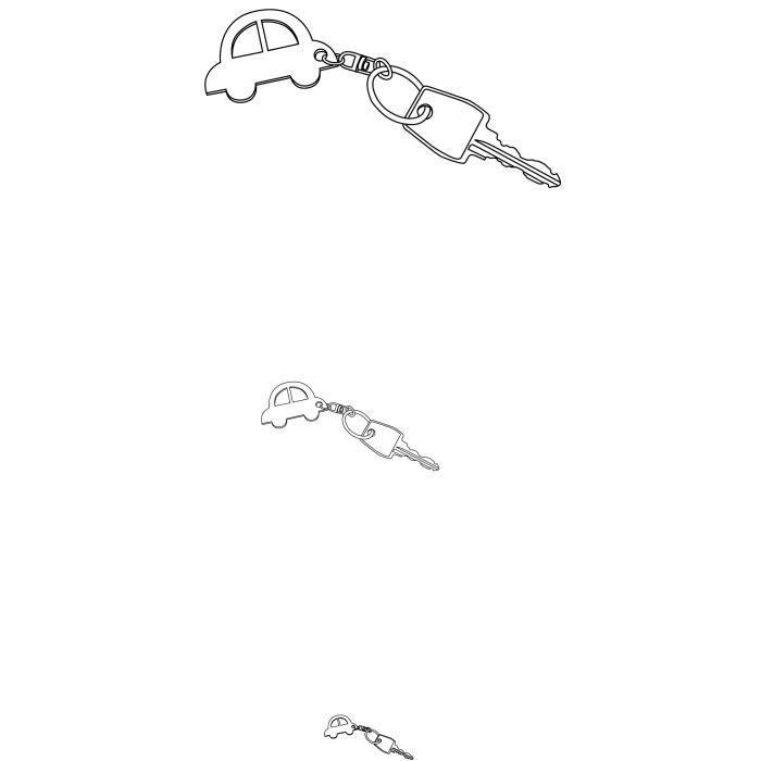 ARTEMIO 10 Porte-Clés Anneaux + Mousquetons