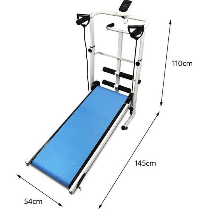 Tapis de Course Pliable, non motorisé, Tapis de Marche pour Fitness, Machine de Marcher, 110 * 45 * 105CM