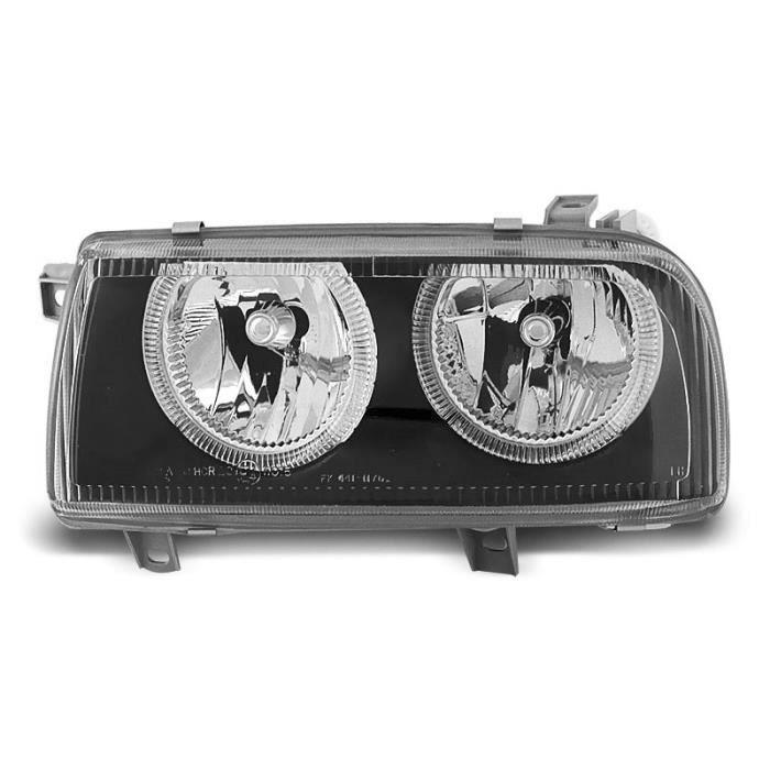 Paire de feux phares VW Vento 92-98 angel eyes noir (W32)