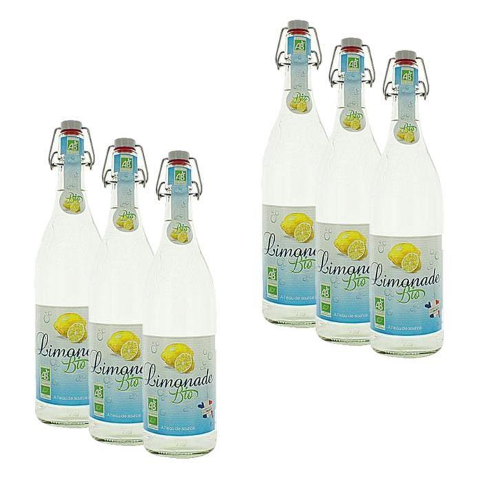 Lot 6x Limonade BIO - bouteille 1L