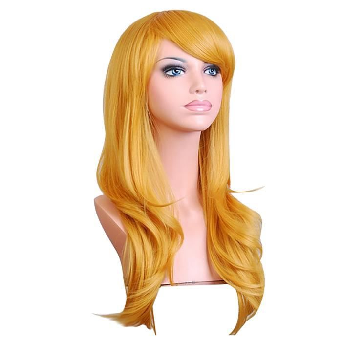 70cm Long Curly Fashion Cosplay Costume Party Hair Anime Wigs Full Hair Wavy Wig FJC201126818D