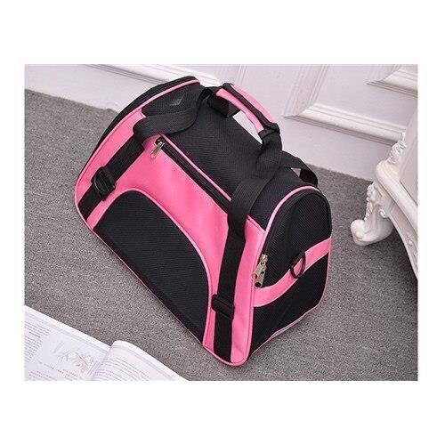 Sac de transport,PipiFren petits sacs de transport pour chats sac de transport pour chiens, sac à dos pour animaux - Type Rose-S