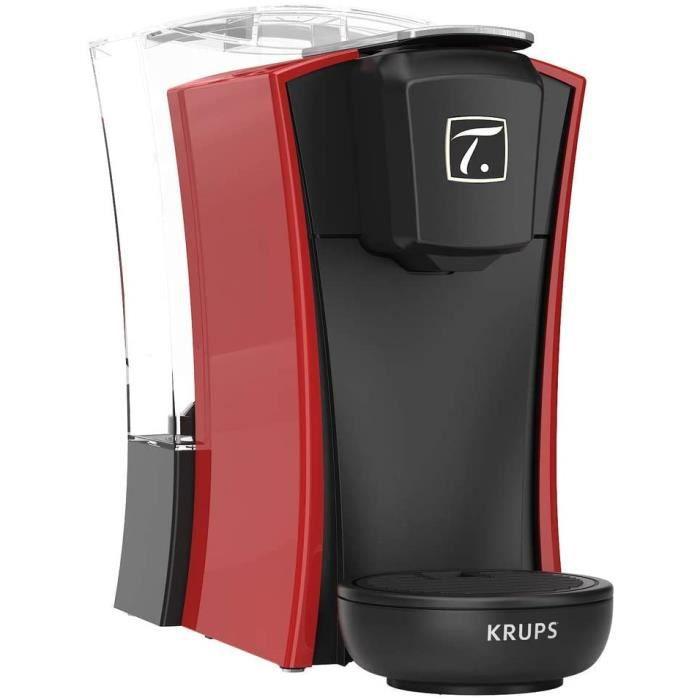 Krups Spécial T Machine à Thé Mini T Théière Electrique à Capsules Rouge YY4120FD