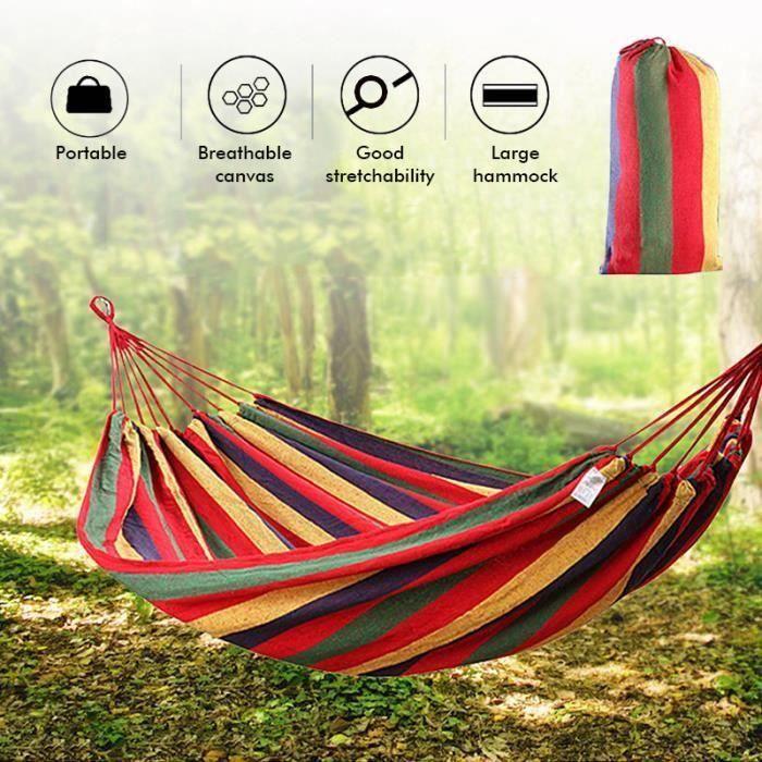 TEMPSA Hamac Portatif de Camping de Hamac de 2 Personnes pour le Jardin de Randonnée