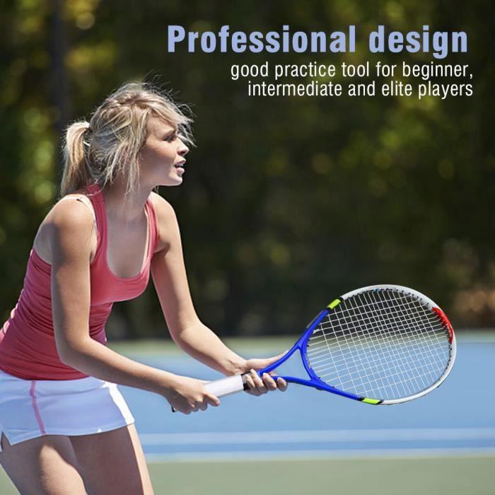 YOSOO raquette de tennis pour enfants Raquette de tennis simple à cordes durables pour l'entraînement des enfants (bleu)