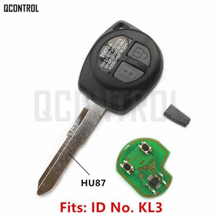 Coque clé,QCONTROL clé télécommande pour voiture, compatible avec SUZUKI SWIFT, SX4, ALTO VITARA IGNIS JIMNY Splash, 433MHz, puce