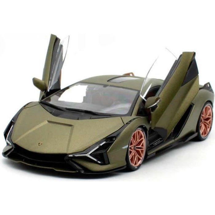 Miniatures montées - Lamborghini Sian verte 1/18 Burago