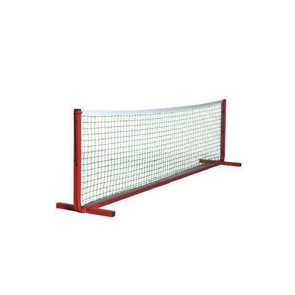 Filet mini-tennis polypropylène Ø 2.5mm vert. Longueur 4m. Sans poteaux