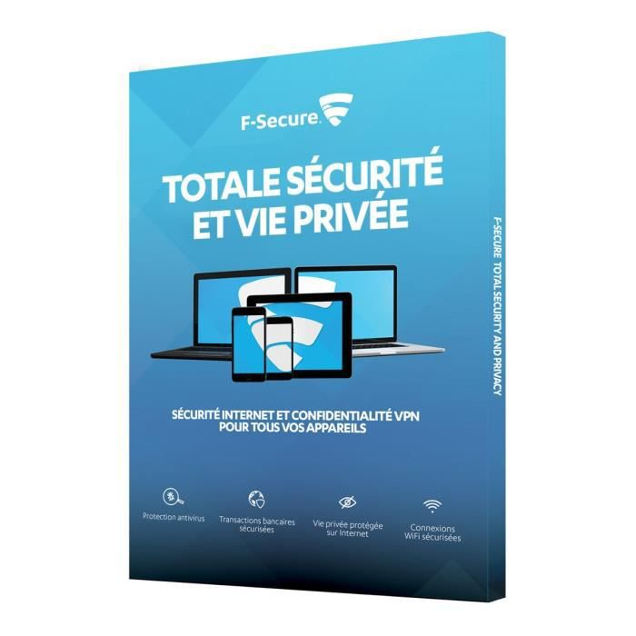 F Secure Pack Total (Freedome + Safe) - 3 appareils / 1 an - Sécurité Internet et Confidentialité