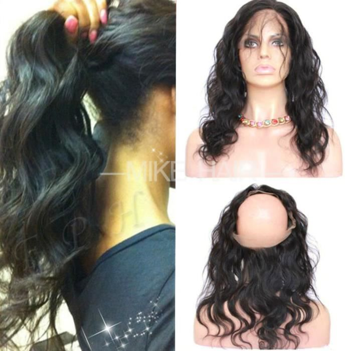 Haute Qualité Lace Frontal 360 Humain Cheveux Naturel Closure Peruvien Body Wave Virgin Hair 12 Pouces
