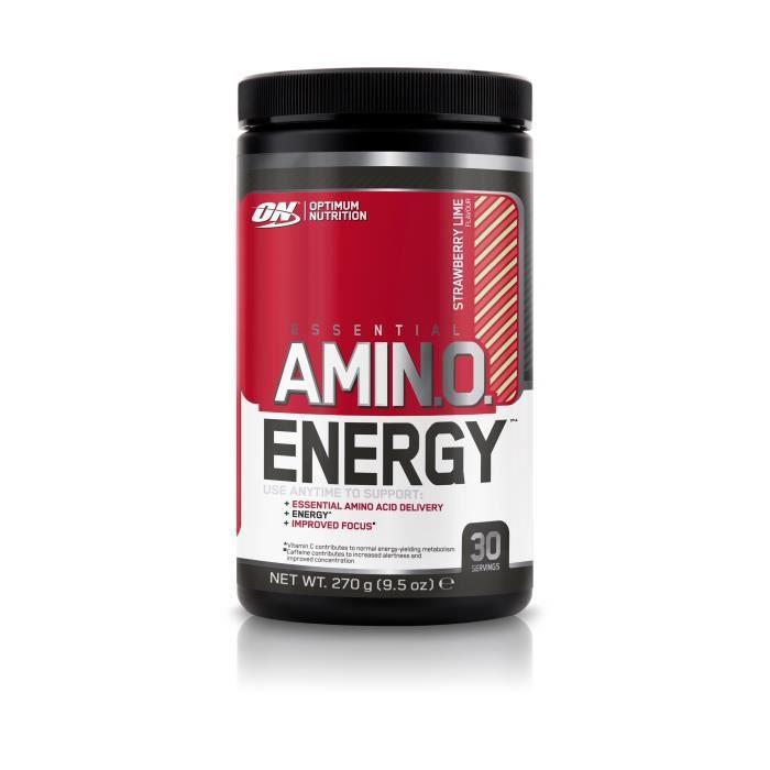 OPTIMUM NUTRITION Pot Amino Energy Fraise / Citron Vert - 270g