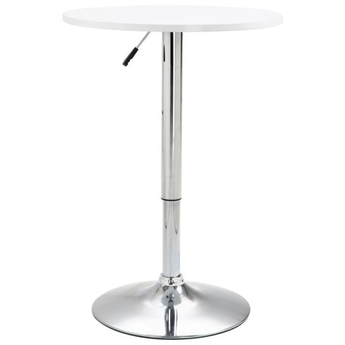 Table de bar Blanc ?60 cm MDF