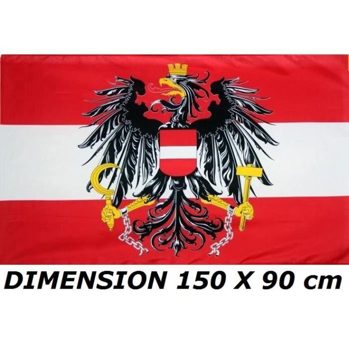 * EURO 2021 * DRAPEAU 150 X 90 cm AUTRICHE AUTRICHIEN AIGLE No Maillot Echarpe Fanion Casquette ...