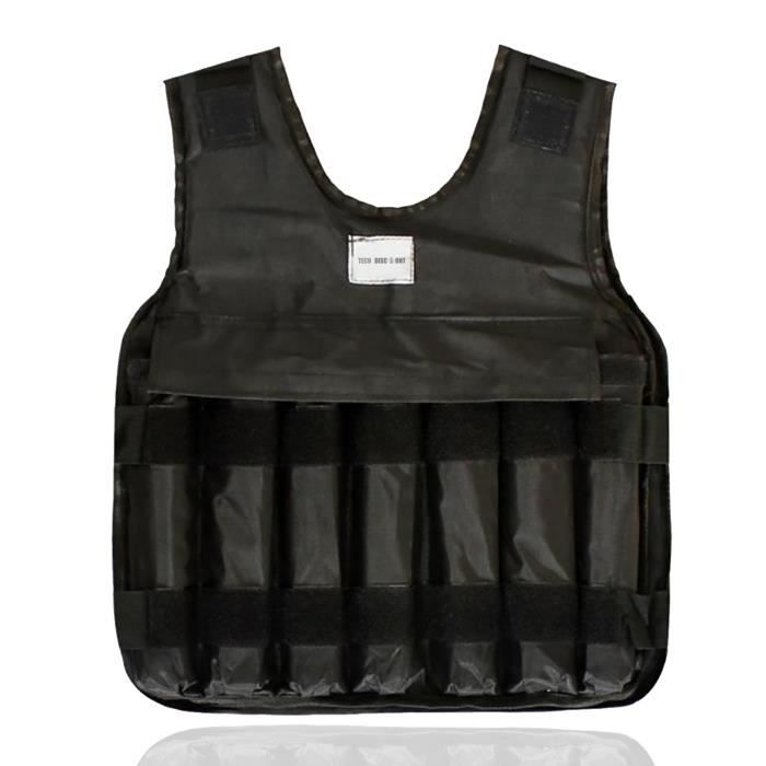 TD® Gilet porteur invisible Gilet de fitness en cours d'exécution réglable Sueur respirante Avec plaque d'acier de 5 kg