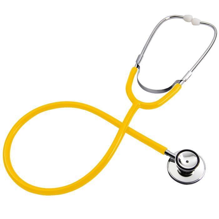 TRIXES Double Headed Stéthoscope pour infirmières Vétérinaires étudiants Maison Healthcare (Jaune)