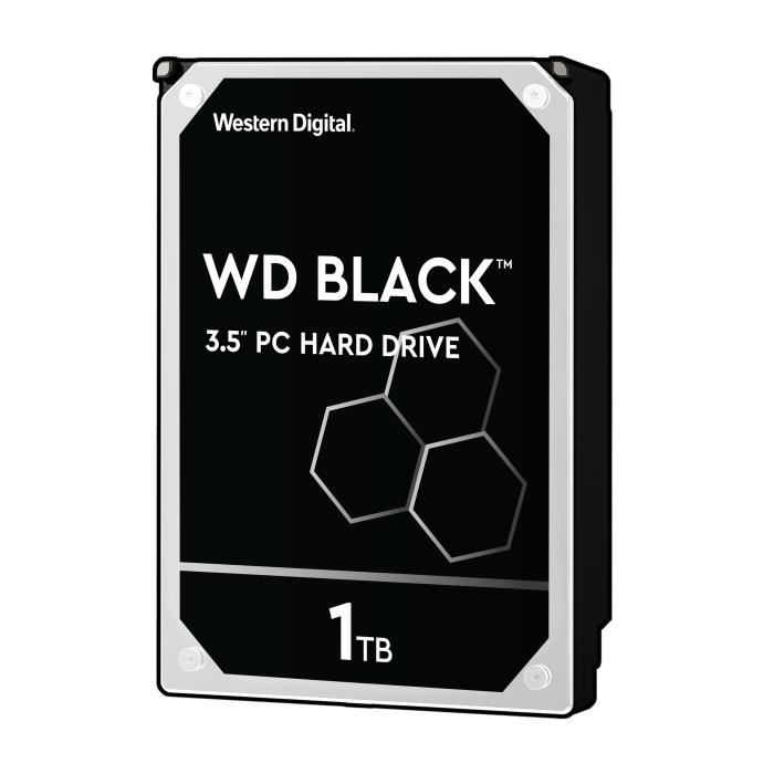 WD Disque dur interne Black 1To 64Mo 3.5