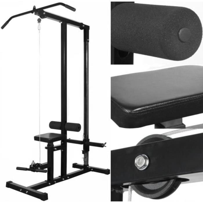 Machines d'haltérophilie/Appareil de musculation sans poids - 110 x 121 x 190 cm - Polyuréthane: 100% - noir KAI