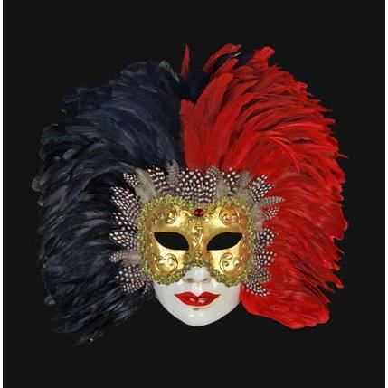 masque de venise volto visage a plumes de coq noir achat vente masque d cor visage cdiscount. Black Bedroom Furniture Sets. Home Design Ideas