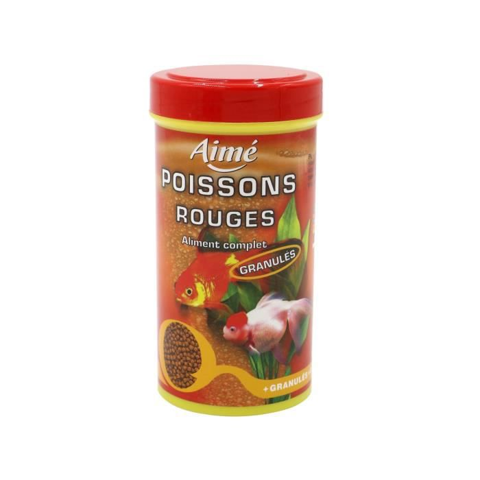 Alimentation poisson rouge granules 250ml aime achat for Vente poisson rouge tunisie
