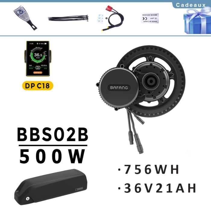 350W Kit de Conversion de v/élo /électrique BBS02B 36V 500W avec Batterie et Chargeur de v/élo /électrique Bafang Kit de Conversion de v/élo /électrique BBS01B 36V 250W