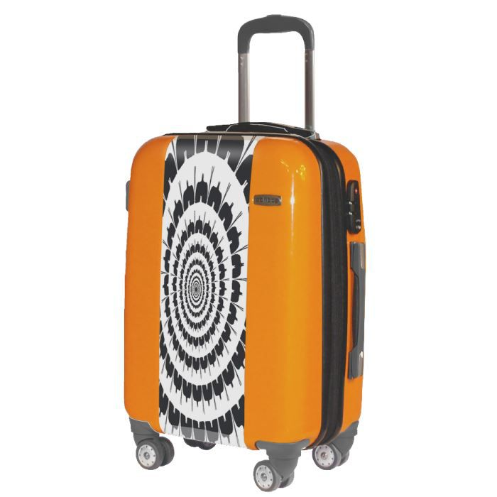 valise hypnotic valise grand format tendance orange achat vente valise bagage valise. Black Bedroom Furniture Sets. Home Design Ideas