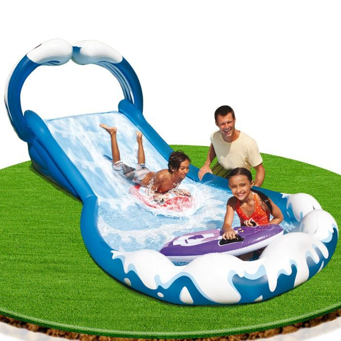 Intex surf n slide achat vente pataugeoire cdiscount for Achat toboggan gonflable piscine