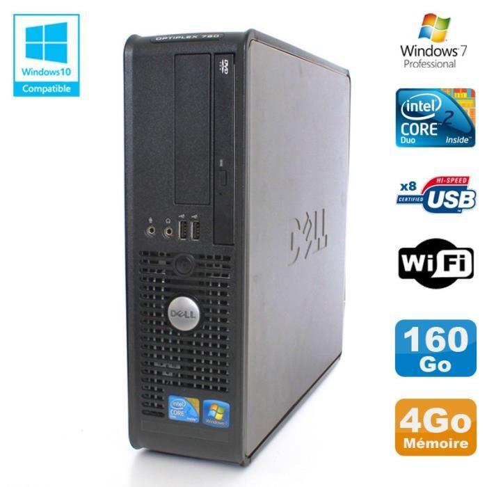 UNITÉ CENTRALE  PC DELL Optiplex 780 Sff Core 2 Duo E8400 3Ghz 4Go