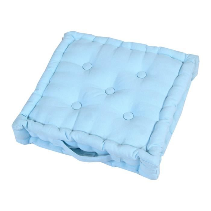 coussin de sol bleu ciel uni 50 x 50 cm achat. Black Bedroom Furniture Sets. Home Design Ideas