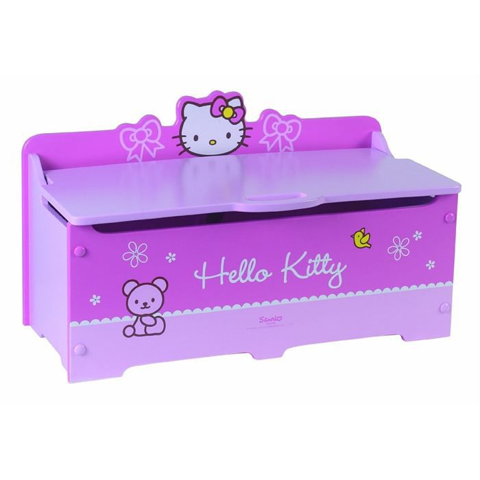 coffre a jouets hello kitty bow petit mod le achat. Black Bedroom Furniture Sets. Home Design Ideas