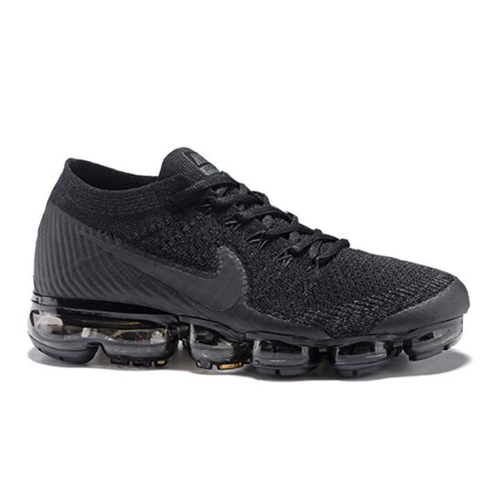 nike flyknit air vapormax baskets noir noir tu achat vente basket soldes d s le 10. Black Bedroom Furniture Sets. Home Design Ideas