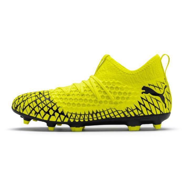 chaussure foot puma jaune