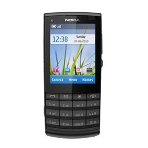 nokia x3 02 noir d bloqu achat t l phone portable. Black Bedroom Furniture Sets. Home Design Ideas