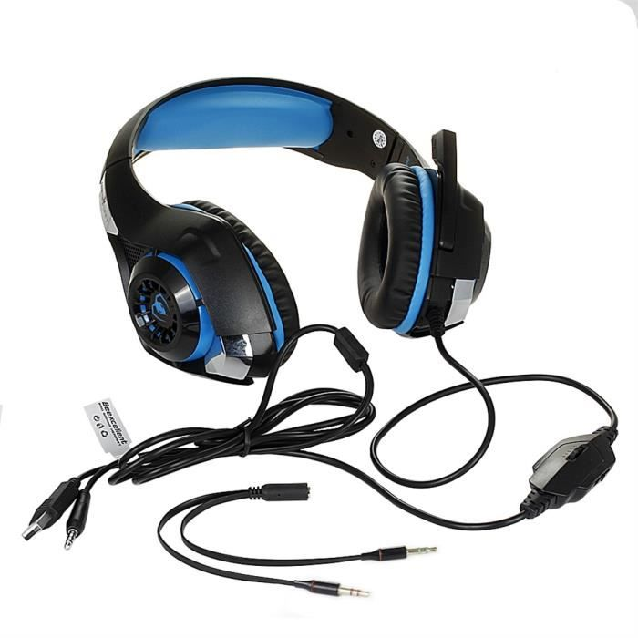 CASQUE AVEC MICROPHONE casque GM-1 rouge Casque gaming PS4 ecouteur gamer