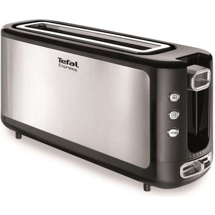 grille pain tefal express tl365etr inox noir achat vente grille pain toaster cdiscount. Black Bedroom Furniture Sets. Home Design Ideas